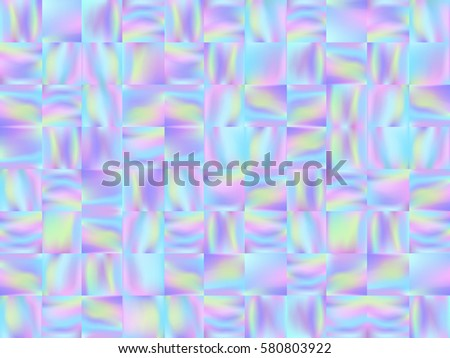 Holographic Mosaic Background Trendy Fashion Wallpaper Pastel Smooth Texture Holography Backdrop Modern