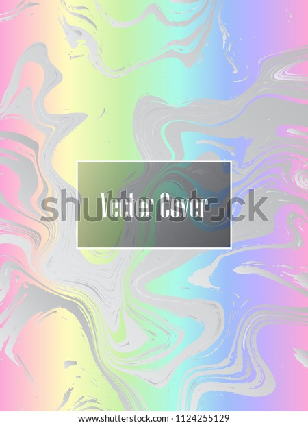 Holographic Paper Minimalist Foil Marble Vector Stock Vector