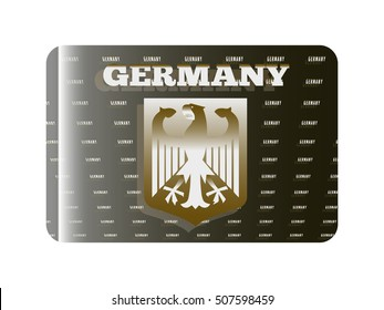 holographic sticker with the coat of arms of Germany