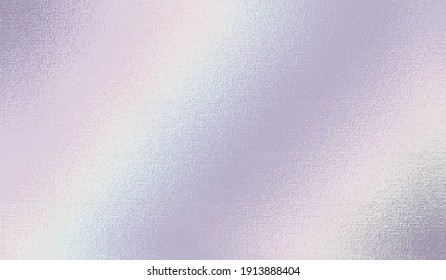 Holographic texture. Rainbow foil. Iridescent, background. Holo gradient. Hologram shine effect. Pearlescent metal sparkly surface for design prints. Pastel color. Glitter silver soft tones. Vector