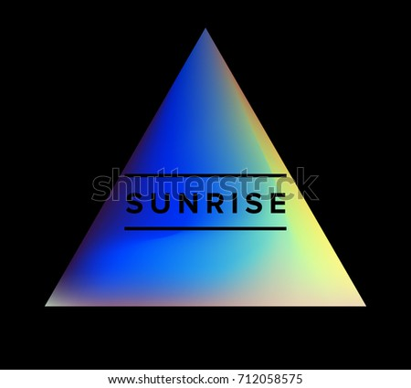 Holographic Triangle On Dark Background Logotype Stock Vector