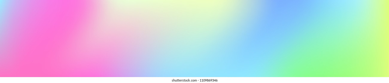 Holographic Vector Background. Iridescent Foil. Glitch Hologram. Pastel neon rainbow. Ultraviolet metallic paper. Template for presentation. Cover to web design.  Abstract colorful gradient.
