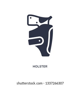 holster isolated icon. Simple element illustration from desert concept. holster editable logo symbol design on white background. Can be use for web and mobile.