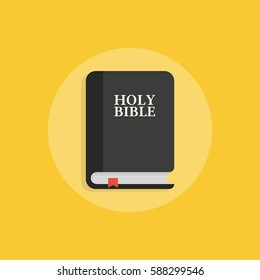 Holy Bible icon. Vector