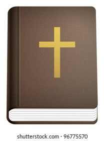 Holy bible on a white background. Vector illustration.