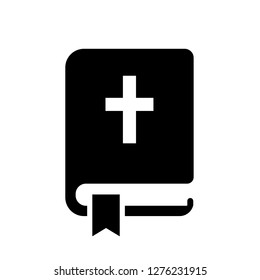 Holy Bible vector icon illustration isolated on white background