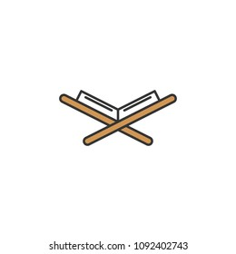 Holy Qur'an Book simple flat icon for Ramadan