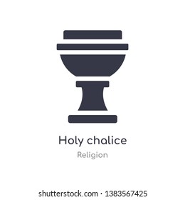 holy chalice icon. isolated holy chalice icon vector illustration from religion collection. editable sing symbol can be use for web site and mobile app