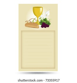Holy communion card in vector art