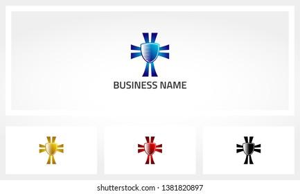 Holy Cross Shield Christian Logo