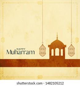 holy festival of muharram greeting design background
