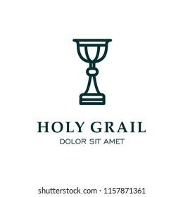 Holy grail monoline icon jewelry logo