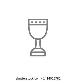 Holy grail symbol vector icon. Spiritual concept vector illustration.