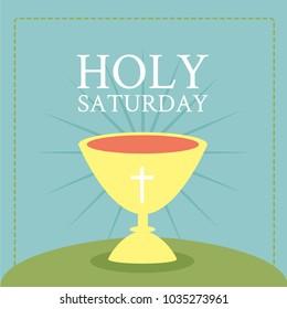 Holy Saturday Illustration