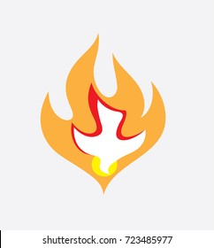 Holy Spirit Fire, art vector design