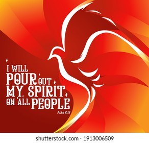 Holy Spirit Pentecost Sunday banner vector illustration
