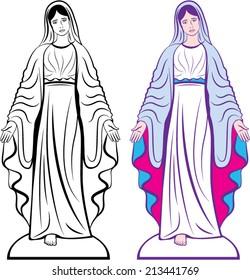 Holy Virgin Godmother vector