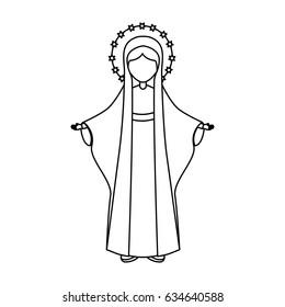 Holy virgin mary icon