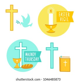 Holy Week Easter Vigil and Maundy Thursday icons