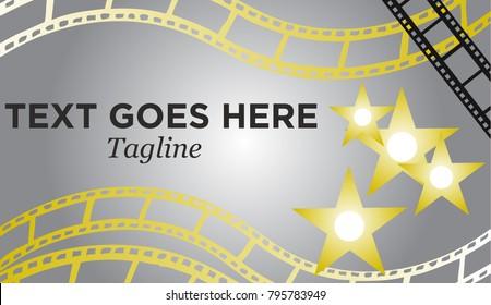 Holywood movie film star banner