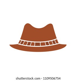 16d3a994ef2bd Homburg hat glyph color icon. Classic men s hat. Silhouette symbol on white  background with