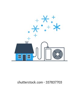 Home air conditioning, house cooling, comfort living