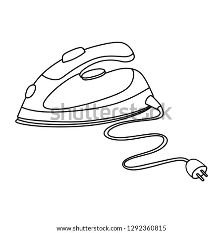 Home Appliance Vector Drawing Black White Stock Vector Royalty Free