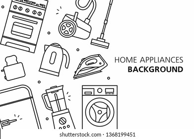 Home Appliances background. isolated on white background