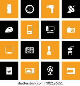 Home Appliances Icon Set for Web & Mobile. Eps.-10.