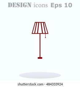 Home appliances icon. Table lamp, floor lamp, chandelier icon. Vector illustration.