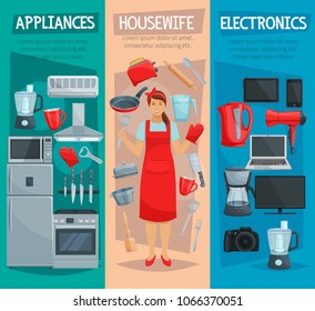 Home Appliances Banner Images Stock Photos Vectors