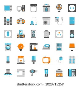 home appliances , pixel perfect flat icon, isolated on white background