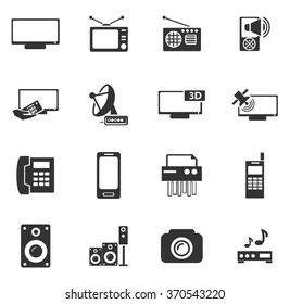 Home appliances symbol for web icons