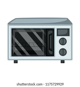 Home Appliances Vector Drawings. Cartoon Illustration of a Microwave on a White Background