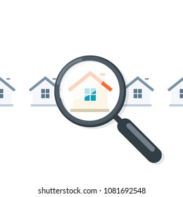 Home appraisal icon. Real estate clipart isolated on white background