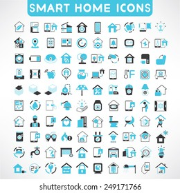 home automation icons set, smart home icons