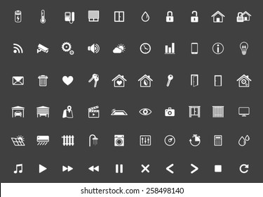Home Automation, Smart Home Icon Set, Home Management Vector