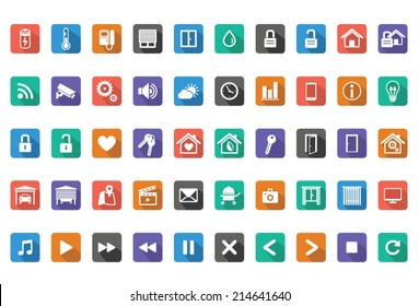 Home Automation, Smart Home Icon Set,Vector images