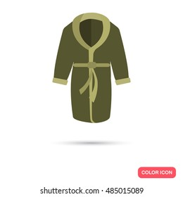 Home bathrobe color flat icon