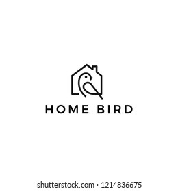 Home bird logo design vector