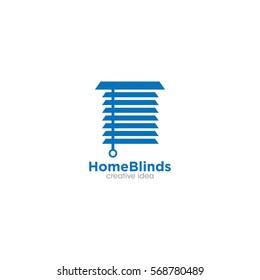 Home Blinds Creative Concept Logo Design Template