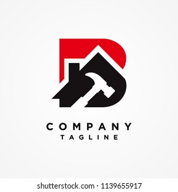 Home Builder Letter B Logo design vector