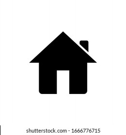 Home building icon vector isolated