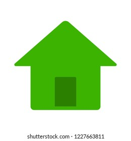 home building isolated on white background. Vector home illustration. Flat style home icon