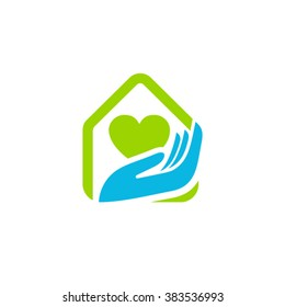 Home care cleaning service logo idea