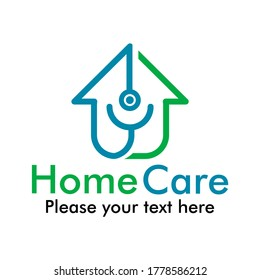 Home care logo template illustration. suitable for clinic, medical, hospital, app, mobile, icon, pharmacy etc