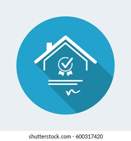Home certification - Vector web icon