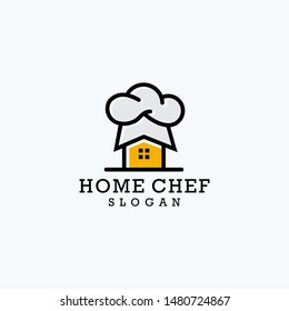 home chef/house chef  icon logo design vector download