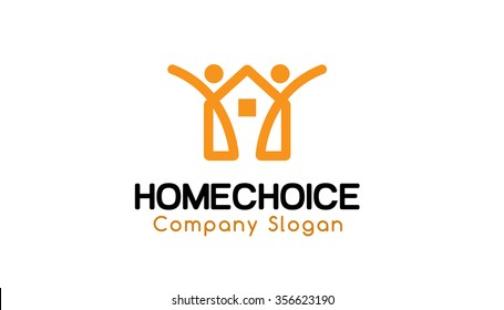 Home Choice Symbol Logo Design Illustration