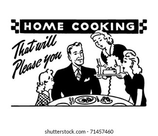 Home Cooking 2 - Retro Ad Art Banner